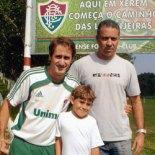 Guilherminho e os observadores do Fluminense, Felipe e Rildo, em Xerém