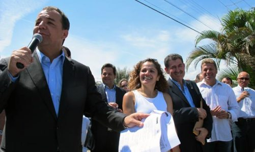 Inauguração da estrada Jardim-Barreira