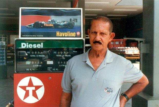 Simeão Nunes no Posto quando ainda ostentava a bandeira Texaco