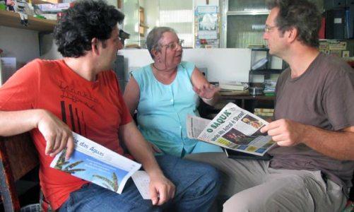 Correspondentes do Le Monde  visitam redação de O Saquá