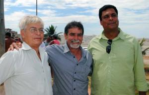 Dr. José Augusto da Diretoria de Recuperação Ambiental do INEA, o secretário municipal de Meio Ambiente, Gima e o superintende regional do INEA, Túlio Vagner