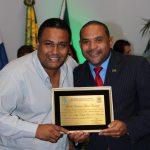 O jornalista Paulo Barreto  com o vereador Kinho