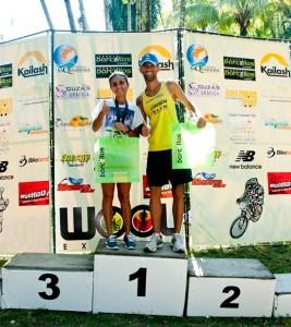 Raquel Nascimento e Carlos Magno Gonçalves foram os campeões na categoria ELITE (Divulgação)
