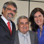 O veterano vereador Paulo Renato com o vice Zequinha e a esposa, a fonoaudióloga Dra. Paula