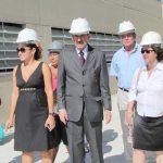 A comitiva que vistoriou as obras do novo hospital de Saquarema, em Bacaxá