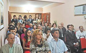 O plenário lotado na sede da OAB, durante o ato de posse da nova diretoria