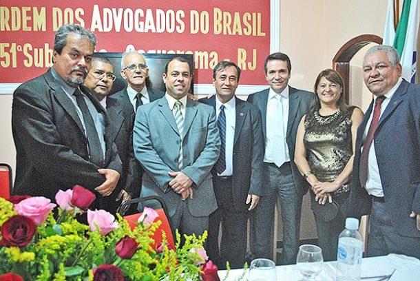 O presidente da OAB, Miguel Saraiva, reeleito para mais um mandato após uma brilhante gestão que deu à classe em Saquarema a sede própria que tanto almejava (fotos: Agnelo Quintela)