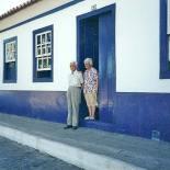Os saudosos Seu Casimiro e Dona Nair na porta de sua casa (Edimilson Soares)