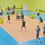 A seleção masculina está concentrada no Centro de Desenvolvimento do Vôlei, em Saquarema, treinando para competir na Liga Mundial, com estreia da equipe brasileira marcada para 7 de junho (Guilherme Stocchero)