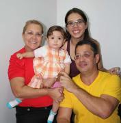 Imensa alegria pelo 1º ano da princesinha da família Colorgil, Giovanna, com os jovens vovós Sheila e Gil e mamãe Gabi