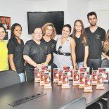 A prefeita Franciane recebeu Rita e a equipe da Daumas Academia (Foto: Agnelo Quintela)