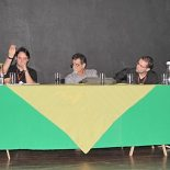 Os engenheiros Nicolau Obladen, Bruno Abreu, Gilmar Magalhães, Tássio Barbosa e Luiz Guilherme Vieira na apresentação do PMSB (Foto: fotos: Edimilson Soares)