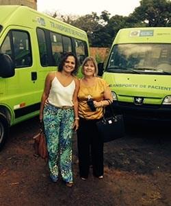 Novas vans para transporte de pacientes
