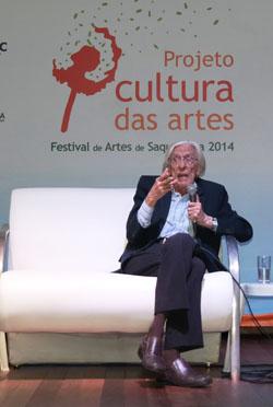 O poeta, jornalista e crítico de arte, Ferreira Gullar (Foto Simone Lopes)
