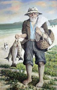 O Pescador, uma das telas premiada de Antenor de Oliveira.