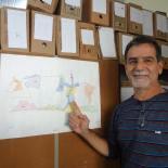 Gima mostrando o recorte das microbacias hidrográficas de Saquarema. (Foto: Dulce Tupy)