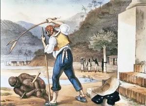 O pau de arara, uma invenção nativa, era muito utilizado nas fazendas para castigar os escravos