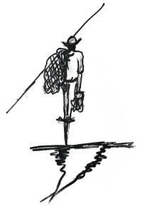 O pescador, do livro O poeta  e as Musas, ilustração do artista plástico Nelsinho