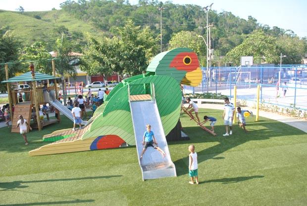 Um novo espaço de lazer para a população, adultos e crianças, do terceiro distrito (Foto: Agnelo Quintela)