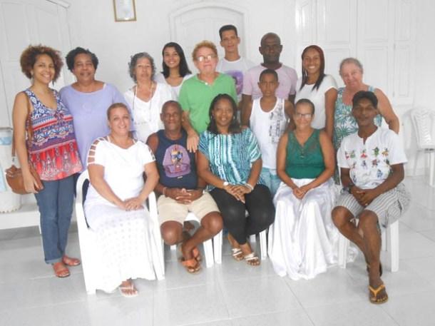 Zenilda, Pai Elias de Iansã e Mara, superintendente de Igualdade Racial da secretaria estadual de Direitos Humanos são o núcleo duro da organização do evento (Edimilson Soares)