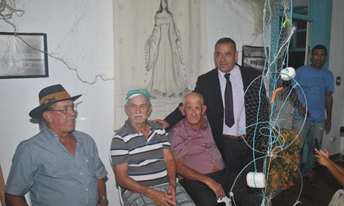 Exposição sobre   pesca e pescadores