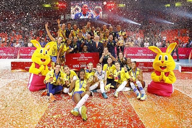 Depois do Grand Prix, as meninas do vôlei agora em busca do ouro olímpico (Foto: CBV/Divulgação)