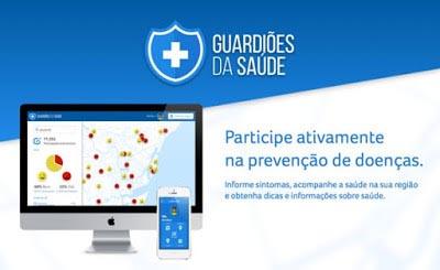 Aplicativo Guardiões da Saúde adequado às Olimpíadas