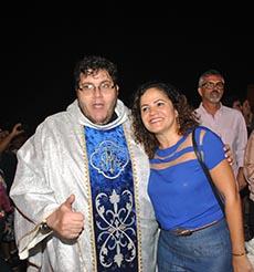 Padre Mário e a prefeita