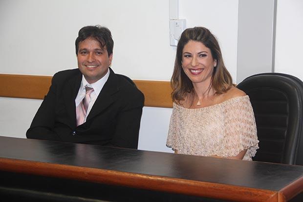 O vice Pedro Ricardo e a prefeita Manoela Peres (Fotos: Edimilson Soares)