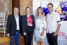 Fernando Pelegio (SBT), Monica Pimentel (Discovery Home & Health), Daniela Busoli (Formata) e Marcelo Kastenbaum. Foto: Gabriel Cardoso - Osasco Fashion