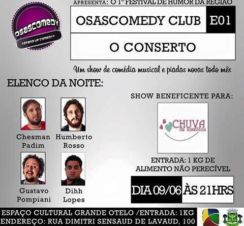 Osasco recebe Festival de Humor nesta terça