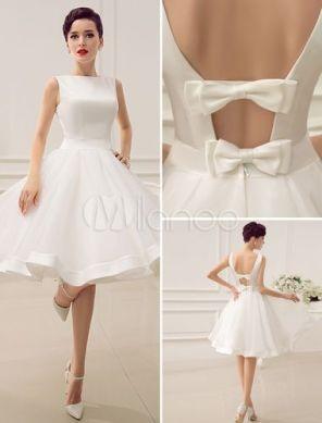 Vestido de noiva civil curto