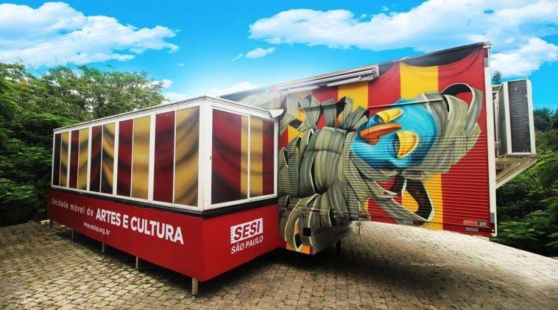 Unidade móvel de Artes e Cultura do Sesi estará no Parque Chico Mendes até 10 de fevereiro