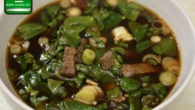 Рецепта за агнешка супа със спанак