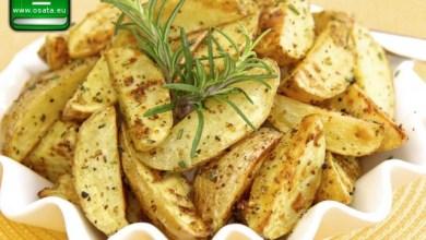 Рецепта как да приготвим запечени картофки с розмарин и мащерка