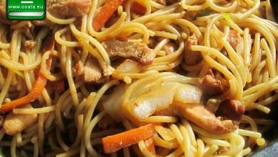 Рецепта как да приготвим лингуини с телешко и зеленчуци по китайски