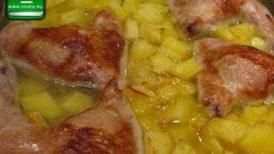 Рецепта за печено пиле с картофи на фурна