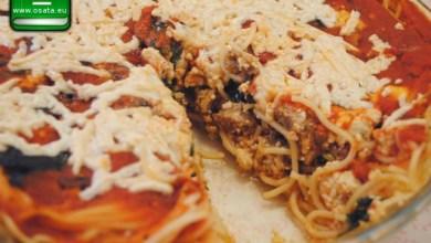 "Рецепта как да приготвим спагетен пай ""болонезе"""
