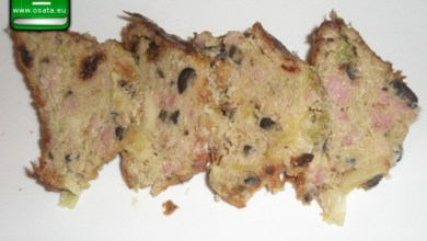 Рецепта за бърз солен кекс с праз, шунка и маслини по сицилиански