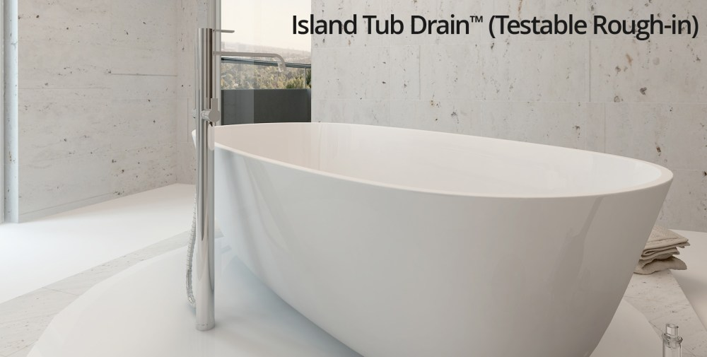 medium resolution of island tub drain testable rough in