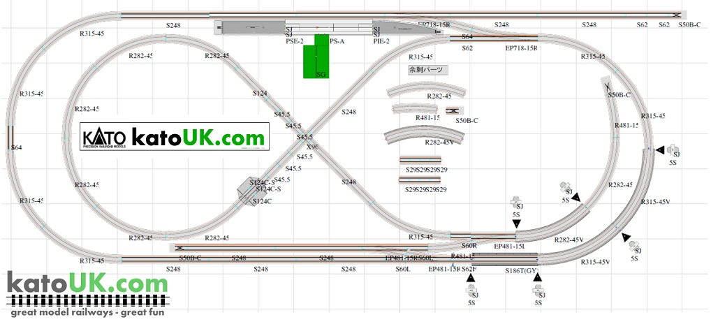 Kato N Scale Track Layouts Pictures to Pin on Pinterest