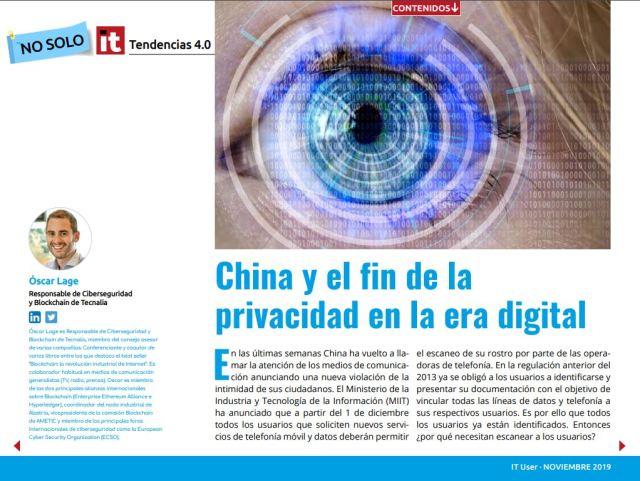 China y el fin de la privacidad digital