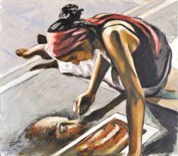 Artista di strada, Olio su tela, cm.70x80, 2010 ■