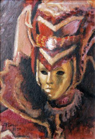 DAMA DI CORTE, Oil on handmade paper, cm.36x26. 2010