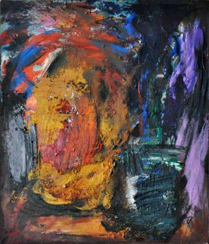 EUFORIA NOTTURNA, Acrilico su tela, cm.70x60, 2015