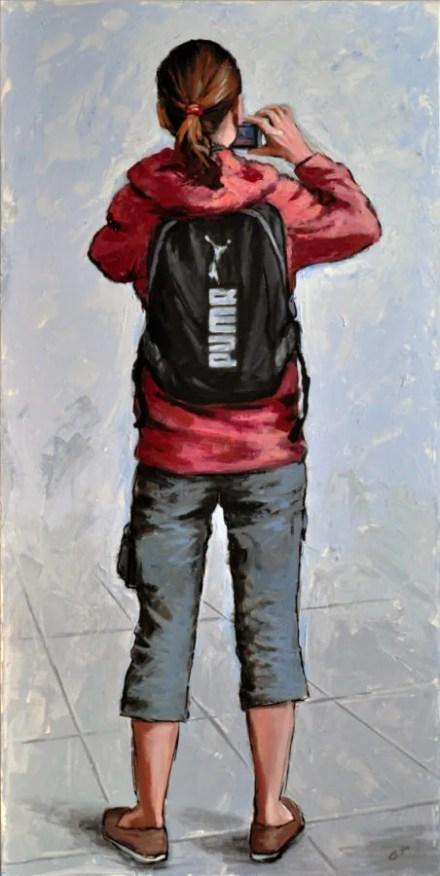FOTO RICORDO, Acrylic on canvas, cm.120x60,2014