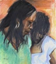 I COLORI DEL MERCATO, Oil on canvas, cm.80×70, 2010