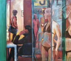 In mostra, Acrylic on canvas, cm.60×70, 2010
