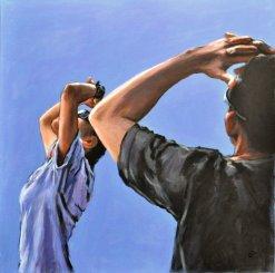 LUOGHI SOSPESI, Acrilico su tela, cm.70x70, 2012