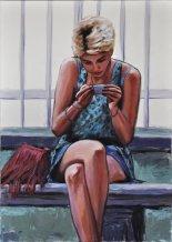M'ama non m'ama, Acrilico su telas, cm.100x70, 2014